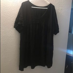 Black smock shirt/dress XL